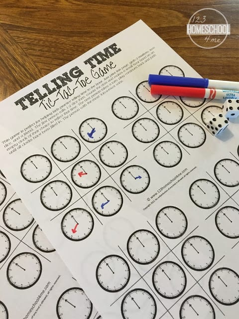 help kids practice telling time to the hour with this telling time game perfect for kindergarten math