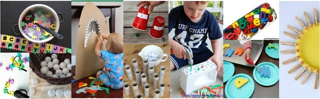 Letter Recognition Games to help toddler, preschool, prek, and kindergarten age children learn their letters