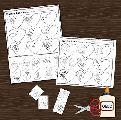 valentines day rhyming cut and paste worksheet 123 homeschool 4 me. Black Bedroom Furniture Sets. Home Design Ideas