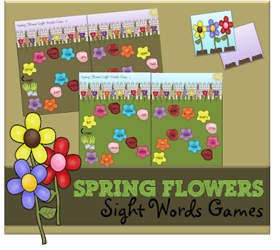Spring Flowers Sight Words Game