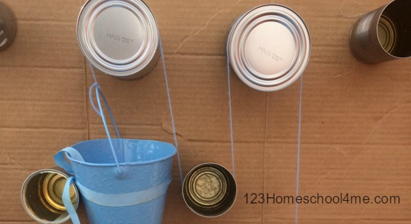 (Use cans to make your own pulley)