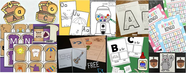 alphabet worksheets to help toddler, preschool, prek, and kindergarten learn their lettesr with fun abc games