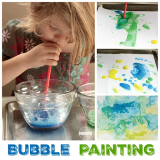 Foam Bubble Painting