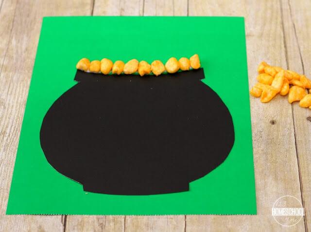 cereal name craft for toddler, preschool, kindergarten