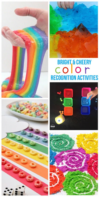 Over 40 Creative, fun, and unique Color Recognition Activities for toddler, preschool, kindergarten, first grade, 2nd grade and more for march, rainbow theme, color recognition, and more #coloractivites #colorrecognition #learningcolors #preschool #kindergarten