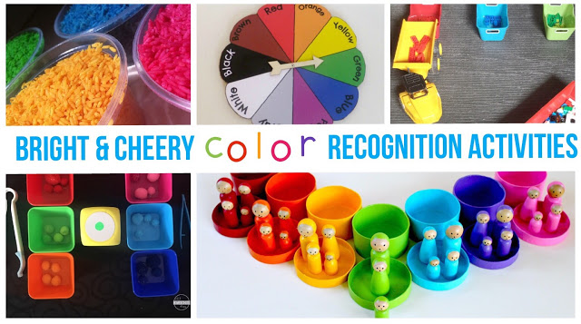 color recognition activities for toddler, preschool, prek, kindergarten