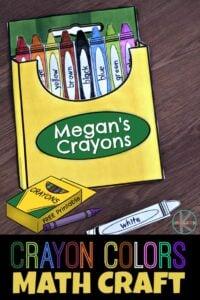 Crayon Colors Math Craft