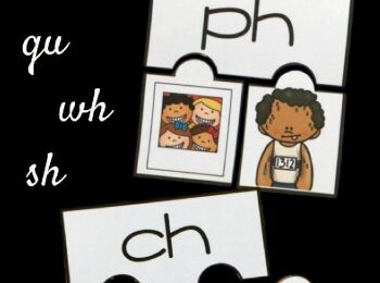 Teach digraphs for kids with these super cute, free printable digraph puzzles. This digraph activity is perfect for kindergarten, first grade, and 2nd grade students who are working on reading and spelling more complex words. This phonics activity allows students to work on ph, th, ch, gu, wh, and sh digraphs. Simply download pdf file with digraph printables to use in color or in black and white.