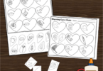 Valentines Day Rhyming Cut and Paste Worksheet