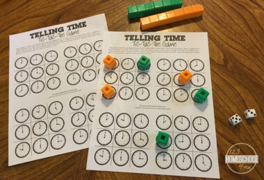 Telling-Time-Tic-Tac-Toe-Game
