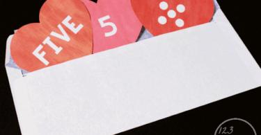 Valentine Hearts Preschool Number Matching