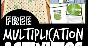 Is your child or student working on learning multiplication? You are going to love these this huge list of fun and free multiplication activities. These multiplication activities make learning to multiply and practicing multiplication engaging for 2nd graders, 3rd graders, 4th graders, and 5th grade students.  Using engaging printable multiplication activities not only helps encourage math practice, but allows them to achieve math fluency with multiplication math facts.