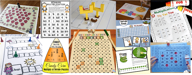free printable multiplication games