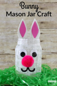 Super cute bunny mason jar craft