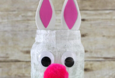 Super cute bunny mason jar craft