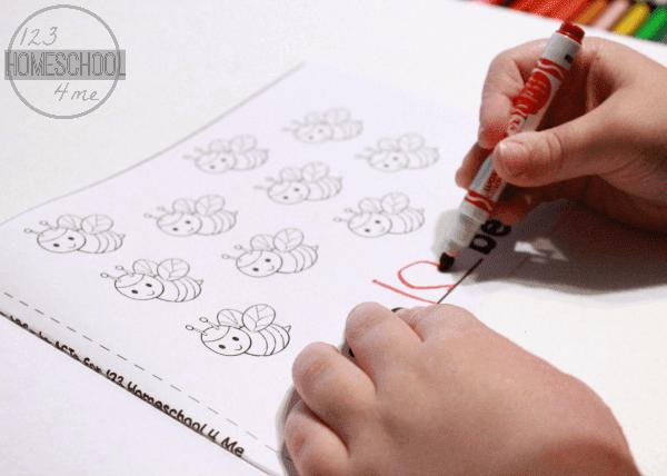 Preschool Bugs Counting Math Practice