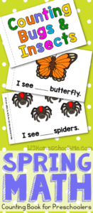 kids will have fun practicing counting with this bug emergent reader for toddler, preschool, and kindergarten printable