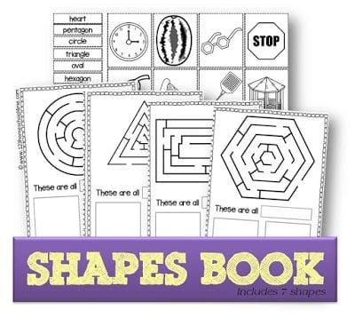 Shapes Worksheets Book