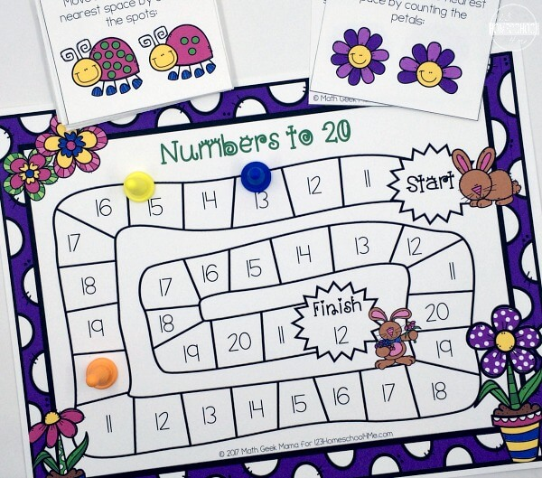 Spring Numbers Counting Game