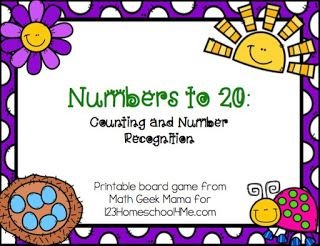 Spring Numbers to 20 Game Cover