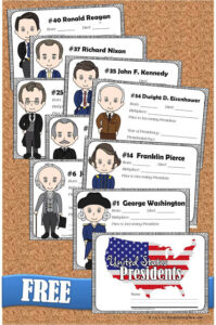 FREE Printable United States presidents Coloring book for kids