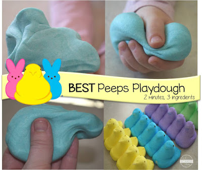 Edible Peeps Playdough