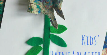 Kids Paint Splatter Art Activity Flower Craft