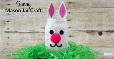 Bunny Mason Jar Craft