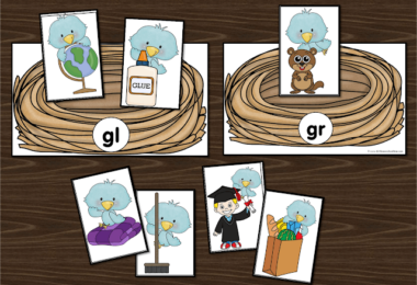 Blue Bird Sorting Blends Activity