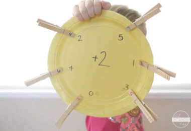 Paper Plate Math Facts