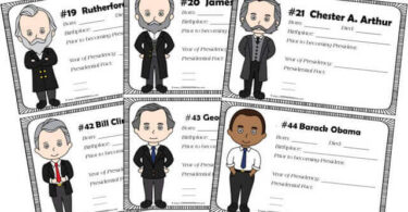 Presidents of the United States Book for Kids