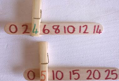 Number Line Missing Numbers Clip Sticks