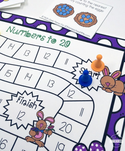 math game for kindergarten perfect for math center, homeschool, math practice