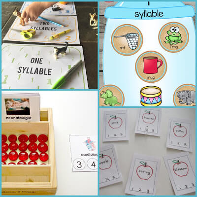 practice syllables with these fun educational activities for kindergarten, first grade, and 2nd grade