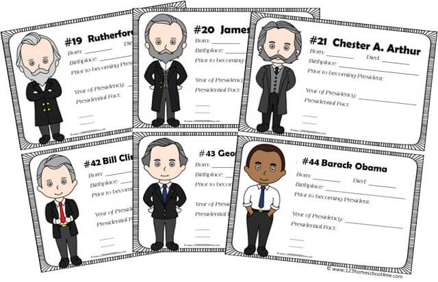 presidents worksheets for kids