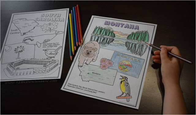 state coloring sheets