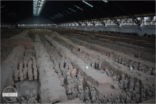 terra cotta warriors in xian china