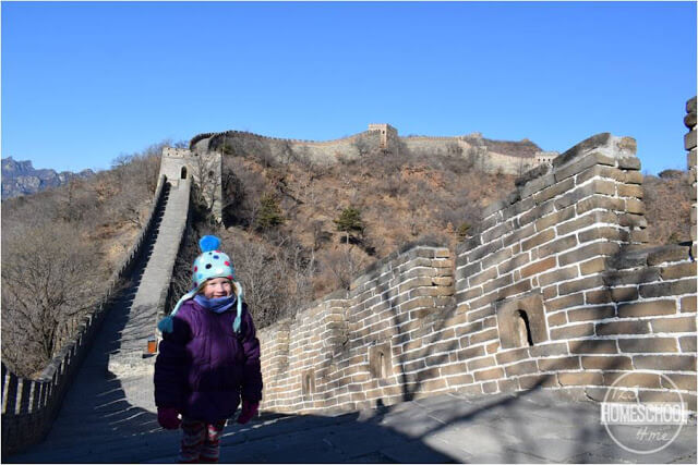 visiting the Great Wall of China on our adoption trip