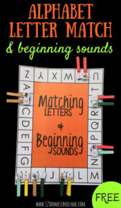 Alphabet Letter Matching Beginning Sounds Game