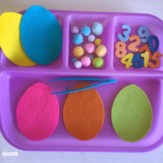 Easter maths for toddler, preschool, prek, kindergarten