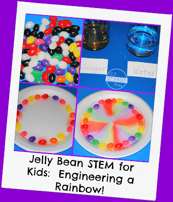 Jelly Bean STEM for kids: Engineering a rainbow