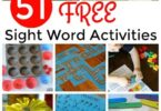 Make learning sight words FUN with over 51 clever and free Sight Word Activities and games for preschool, pre k, kindergarten, first grade, and 2nd grade students. Dolch Sight words help student improve reading fluency by learning these common words that don't follow phonics rules.