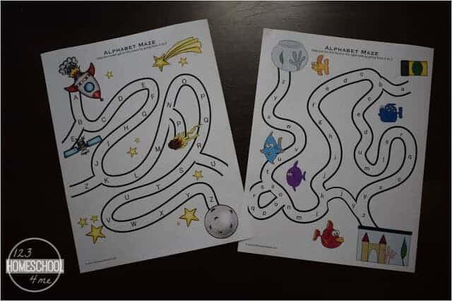 super cute Alphabet Maze Printable