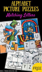 summer alphabet picture puzzle game for kindergartners