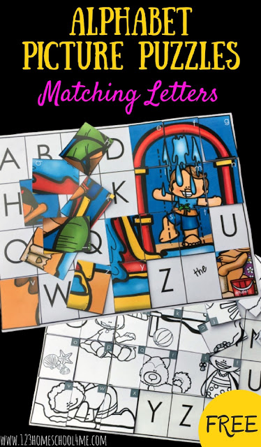 If your kids love puzzles and are learning the alphabet, thisalphabet matching game is for you. As preschool, pre-k, and kindergarten students work on letter matching, they need lots of practice matching upper and lowercase letters! This cute alphabet activity allow students to practice matching upperacase and lower case letters to create a picture. Simply print pdf file with Alphabet picture puzzle and you are ready to play and learn with asummer activity for kindergarten.
