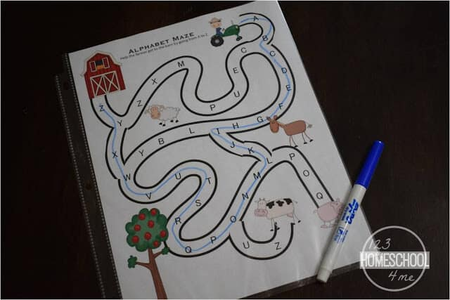 alphabet printable - make abc games reusable by putting in page protector and using a dry erase marker