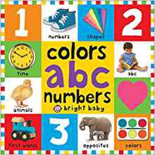 colors abc number book