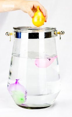 density water balloon science experiment
