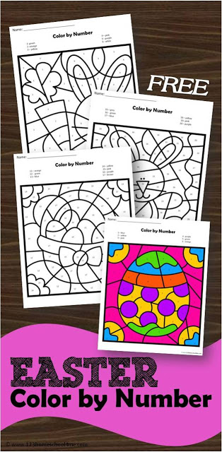 graphic regarding Color by Number Easter Printable titled Cost-free Easter Shade by way of Range Worksheets 123 Homeschool 4 Me