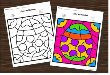 Easter Color by Number Worksheets